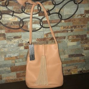 🆕 Tan/nude Street Level tote purse with tags!